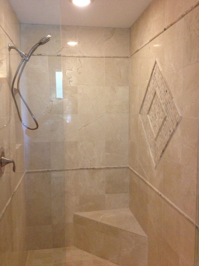 Recent tile jobs englewood tile store mann tile inc Bathroom tile showers
